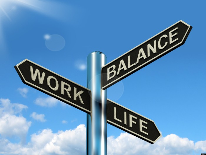 Work Life Balance Signpost Shows Career And Leisure Harmony