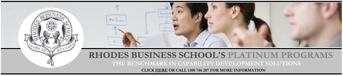 Rhodes Business School - Platinum Programs - Banner Ad